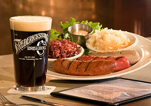 Fredericksburg Brewery sausage plate - Photo by Marc Bennett