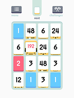 Screengrab of Threes, an example of a great new mobile game.